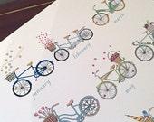 Bike Calendar Print