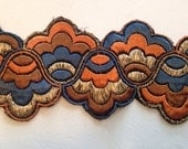4 Feet Vintage Embroidered 3 inch Edging