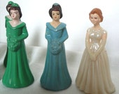 Vintage 50s Creepy Bridal Party Plastic Figurines // Set of 12 // Cake Decoration // Hemlock Grove // Laura Bush