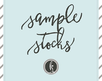 SAMPLE STOCK SET | Samples of the papers I offer for printing