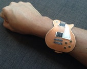 New!!! Item Bracelets Cuff GIBSON LESPAUL Colored Wood gift for Guitarist