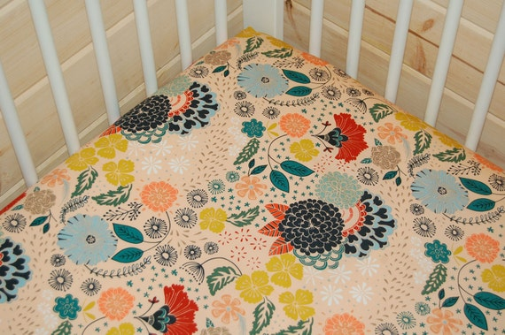 floral crib bedding floral fitted crib sheet mini crib. Black Bedroom Furniture Sets. Home Design Ideas