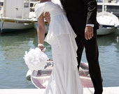 SALE Medium All Peony Feather Bridal Bouquet - made to order for YOU