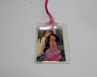 Luggage Bag Tag ID Holder Disney Aladdin and Jasmine