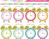 Alarm Clocks Clipart Graphics Personal & Commercial Use Clock Clip Art