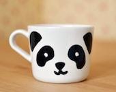 Panda Mug | Present | Personalized Mug | Cute Mug | Coffee Tea | Custom Gift | Hand-painted | Bear Cup | Birthday Gift | Kitchen | Home