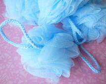 Blue Bath Puff Ball - Bath puff - Shower puff - Pouff
