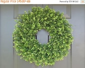 FALL WREATH SALE Faux Thin Artificial Boxwood Wreath, Storm Door Wreaths, Front Door Outdoor Wreath,  Front Door Decor, Sizes 14-24 inch ava