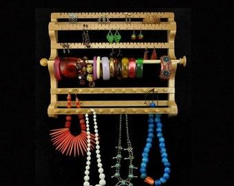 MEMORIAL DAY SALE Hanging Combo Earring Necklace Bracelet Storage Holder Display
