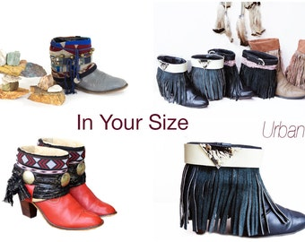 Upcycled Vintage Boots Cowboy Southwestern Gypsy Festival Boots Made To Order In Your Size