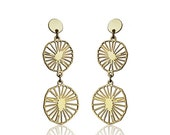 Sale 20% OFF Bloom Post Earrings, Scandinavian design, floral element studs