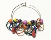 Clown Barf on Crack Snagless Stitch Markers