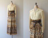 Donald Brooks maxi dress | vintage 1960s leopard skirt | vintage 60s maxi dress