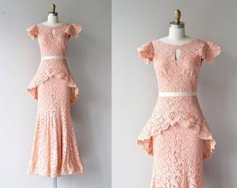 Emmanuelle lace gown | vintage 1930s lace dress | long 30s dress