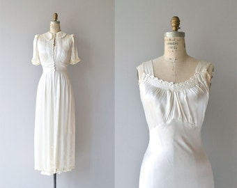 Moonbeam peignoir set | vintage 30s peignoir set | 1930s silk dressing gown