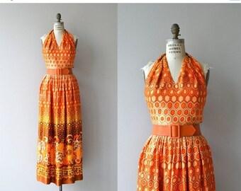 25% OFF.... Prêt-À-Porte maxi dress | vintage 1970s maxi dress | 70s halter dress