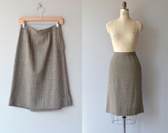 Ledger wool skirt | vintage 1950s skirt | wool 50s pencil skirt