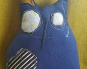 Neo the handmade primitive inspired plush kitty