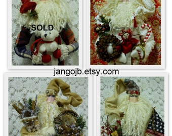 YOUR CHOICE New Ready To Ship Folk Art Santa Claus Doll Choose One of These THREE