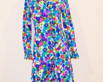 SALE......Vintage Dress Ruffles Wrap Mod