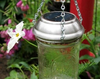 Sale Hanging Mason Jar Solar Light | Ball Mason Jar Light | Solar Lantern | Solar Luminary | Mason Jar Lantern | Garden Lights | Farm House