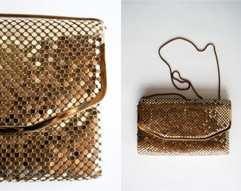 70's Gold Chain Mail Vintage Purse