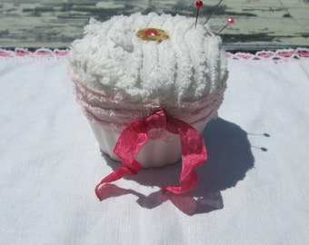 Pincushion, Cup Cake, Shabby Chic, Sewing