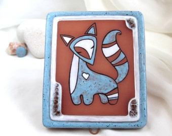 OOAK Wall hanging with magic talking fox - Home amulet - Eco-Friendly Home Decor by studio Vishnya