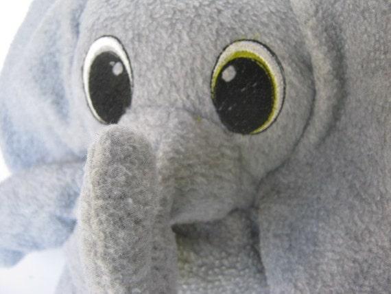Soft wide eyed gray elephant plushie stuffed animal