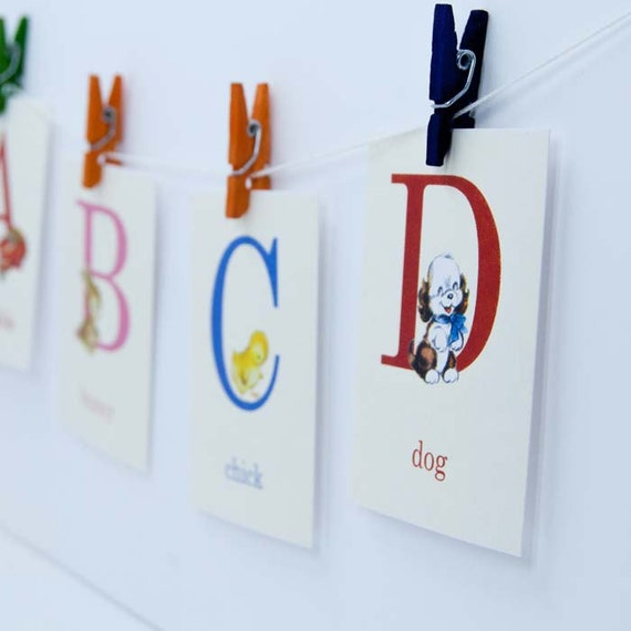 Baby ABC Flashcards - 4x6 OR 5x7 - Set of 26 | ABC Flash Cards, Alphabet Flash Cards