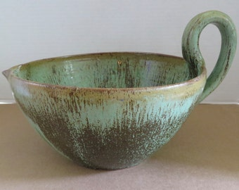 Large A.R. Cole Batter Bowl Rutile Glaze