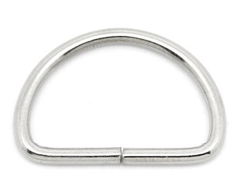 D Ring - Medium 16x24mm -  Sewing/Keychain/Jewelry Making Jump Ring - Set of 50 - #MH219B