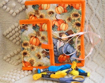 Pumpkins Sewing Caddy Needle Book Hand Sewing Organizer Set
