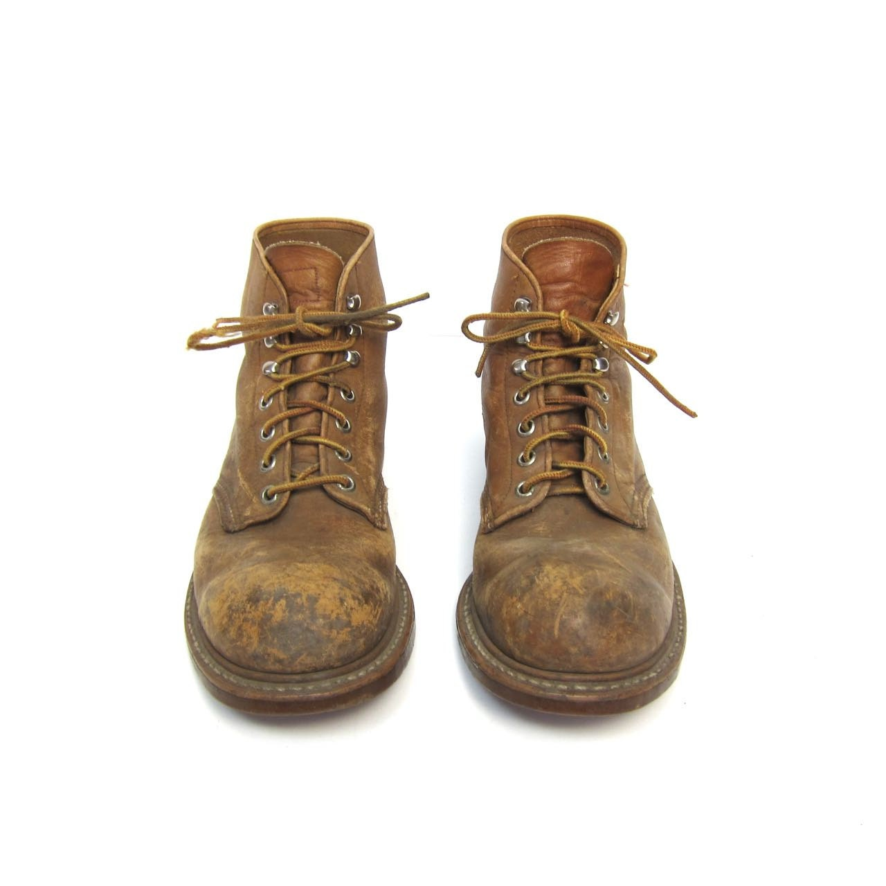 Vintage Red Wing Work Boots Leather Red Wings Distressed Lace Up ...