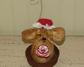 Primitive Christmas Mrs Claus mouse, Christmas mouse, Mrs. Claus, collectible