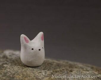 Little Bunny - Miniature Ceramic Animal - Terrarium Figurine - Hand Sculpted