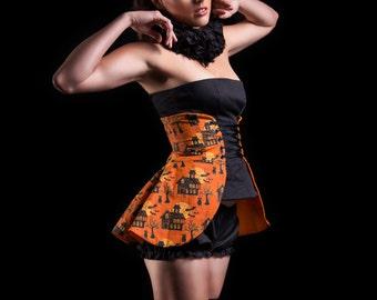 Halloween Costume--Size Large, Women's Costume, Halloween Skirt, Orange Skirt