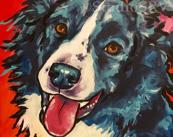Border Collie print 11x14