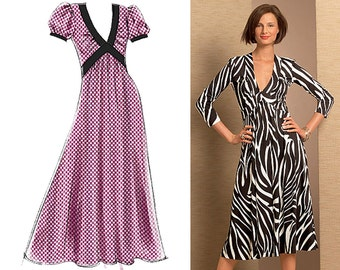 Vogue V8489 Sewing Pattern - Vogue Patterns Misses Knit Dress Sewing Pattern - Vogue 8489