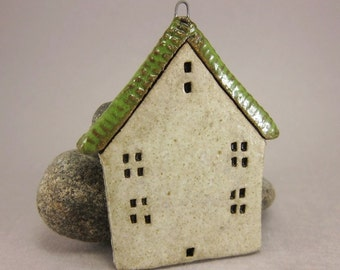 Home...House Ornament in Stoneware