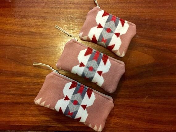Organizer Set of 3 / Travel Set Wool Salmon Pink