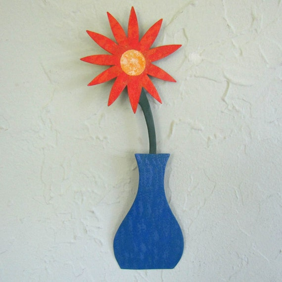 metal wall art flower sculpture kitchen bath indoor outdoor. Black Bedroom Furniture Sets. Home Design Ideas