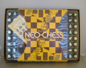 Vintage 1972 Alex Randolph's Neo-Chess Game, a Chess Diversion endorsed  by the U.S. Chess Federation, Unused in Original Box