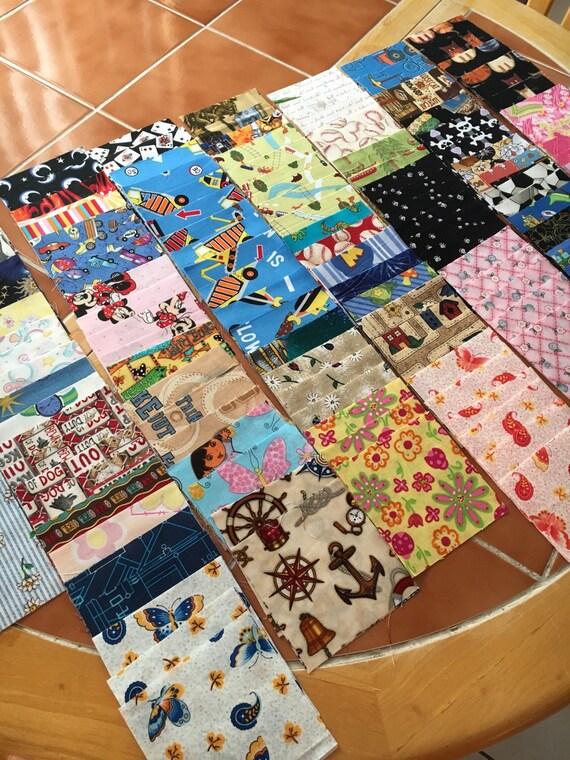 300 4 inch quilt squares - Great for I Spy or rag quilt kit - DESTASH