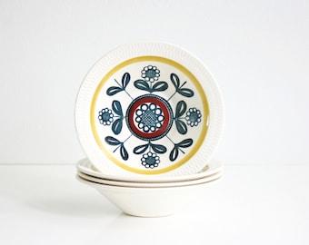 Mid Century Kon Tiki Bowls by Inger Waage for Stavangerflint Norway / Vintage Scandinavian Dinnerware
