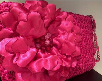 Vegan Bag / Stylish Clutch / Large Clutch / Fashion Clutch / Flower Clutch / Fun Clutch / Colorful Clutch / Handmade Clutch - Any Color