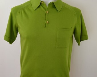 Vintage DONEGAL COLESTA 1950's acetate poly polo size medium rockabilly