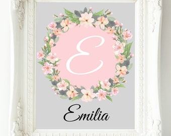 Girls Wall Art, Pink Coral Nursery Wall Decor, Baby Girl Nursery, Nursery Decor Girl, Personalized Nursery Print, Mom Wall Art, Baby Gift
