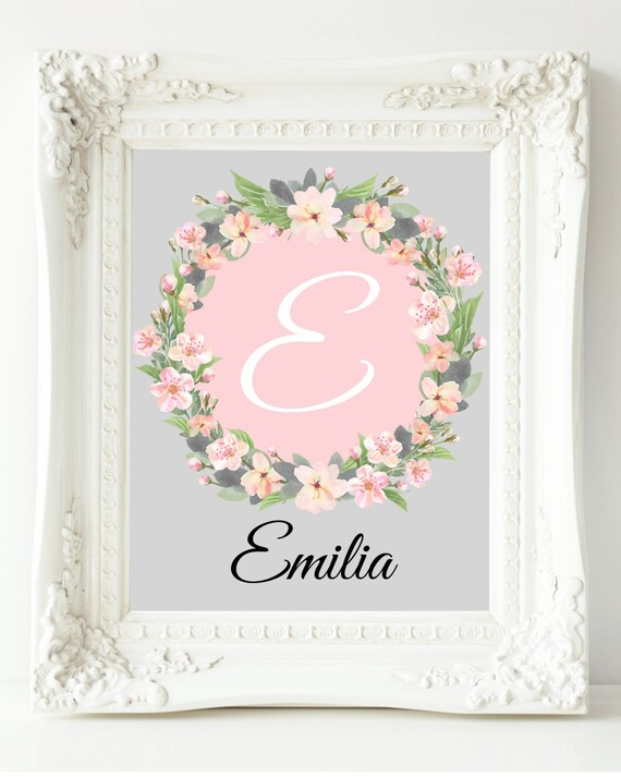 Coral Nursery Wall Decor : Girls wall art pink coral nursery decor baby girl
