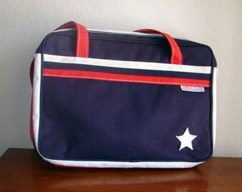 Patriotic YANKEE FLYER Red White and Blue Canvas Shoulder Bag